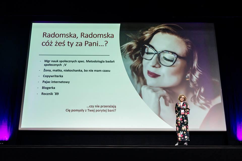 Radomska, a kim Ty jesteś, żeby występować na scenie i o czym gadasz?